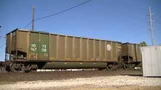 UP 8866 leads southbound coal train Vinita Oklahoma.