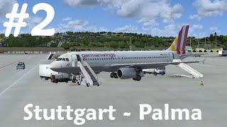 [FSX] Stuttgart - Palma de Mallorca   Aerosoft Airbus A320   4U2592 [2/4]