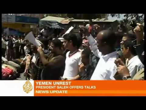 Shots fired at Yemen protest