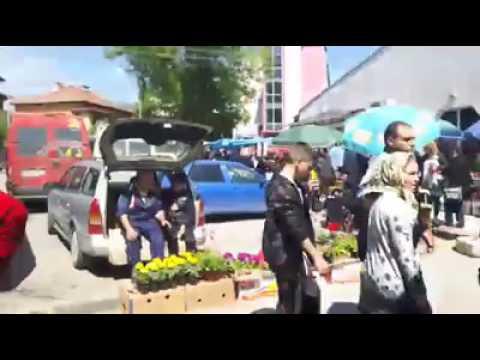 Sunday open market in Bulgarian village