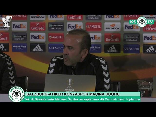 Teknik Direktörümüz Mehmet Özdilek ve takım kaptanımız Ali Çamdalı basın toplantısı düzenledi