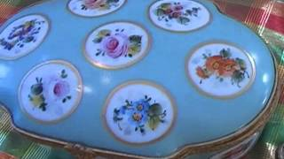 Thrift Hunter Garage Sale Finds Antique Porcelain Citrine Elgin Waterford Yard Estate Economy #48