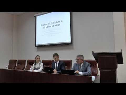 Nicolae Roșca — Exercitarea dreptului de preemțiune la înstrăinarea valorilor mobiliare