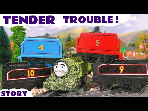 Thomas and Friends Tender Game | Funny Family Fun Toy Train Episode with naughty Tom Moss