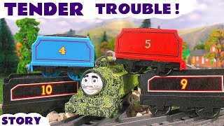thomas and friends tender prank   funny family fun toy train episode with naughty tom moss