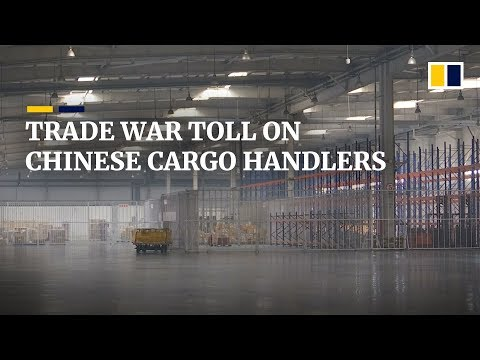 Imports And Exports Drop For Chinese Cargo Terminal As US-China Trade War Tensions Rise