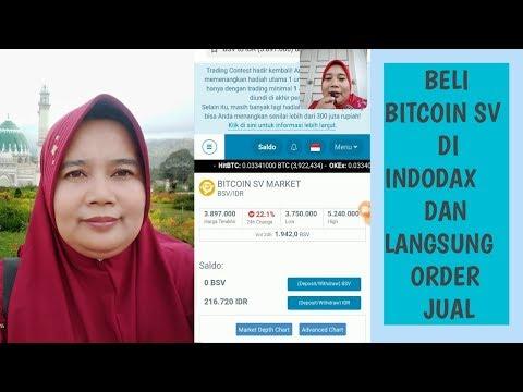 Beli Bitcoin SV Dengan Modal Dua Ratus Ribuan Di Indodax Dan Langsung Order Jual