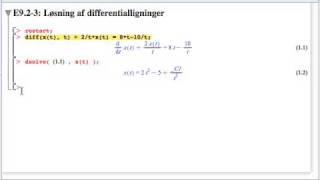 E9.2-3: Løsning af differentialligninger