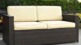 Crosley Furniture Palm Harbor Outdoor Wicker Loveseat