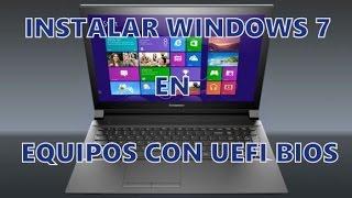 Instalar Windows 7 | Laptop Lenovo G50-30 con Windows 8 y UEFI