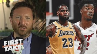 "Dave McMenamin ""heated"" Lakers vs. Heat Game 1 NBA Finals: LeBron vs. Jimmy Butler"