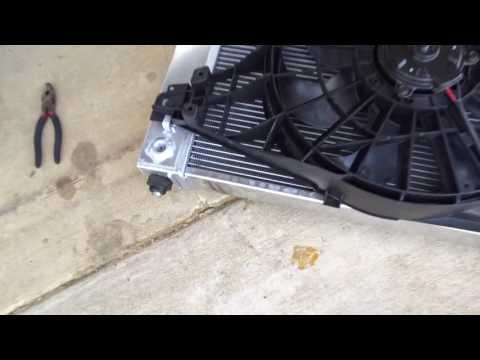 Corvette Radiator Install