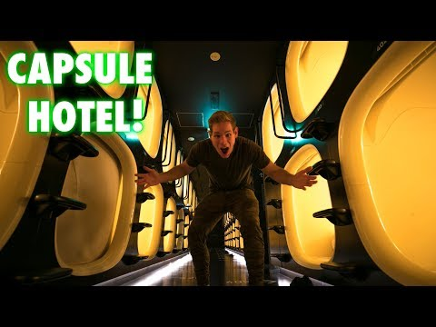 ALIEN SPACESHIP CAPSULE HOTEL!  ONLY IN JAPAN