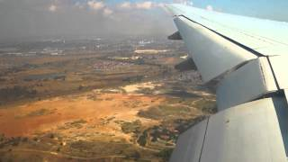 Landing at O.R. Tambo International Airport JNB, Johannesburg, South Africa