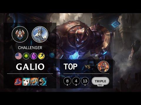 Galio Top vs Qiyana - NA Challenger Patch 10.19