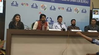 Director Satyaprakash Upadhyay Introducing Bunkar Documentary at IFFI 2018 Press Meet