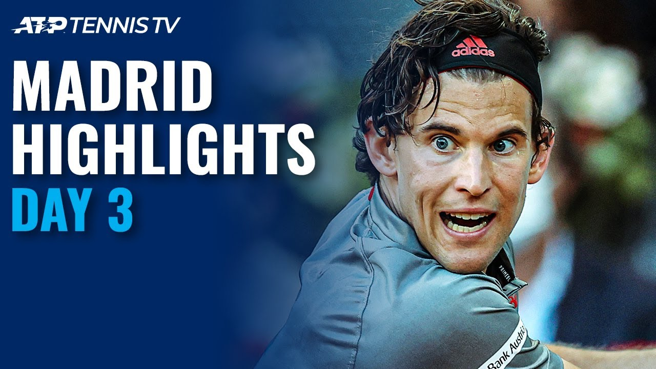 Download Thiem, Rublev, Nishikori, Berrettini Feature | Madrid 2021 Day 3 Highlights