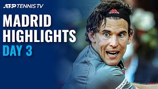 Thiem, Rublev, Nishikori, Berrettini Feature | Madrid 2021 Day 3 Highlights