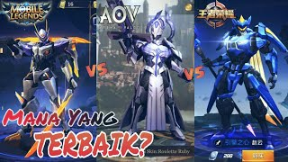 Mobile Legends VS Arena Of Valor VS King Of Glory [CN]_Side By Side || MANA PILIHANMU?
