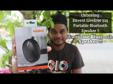 Unboxing Envent Livefree 325 Portable Bluetooth Speaker And Sound Quality Test???