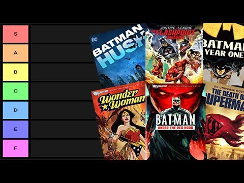 DC Animated Movie Tier Ranking