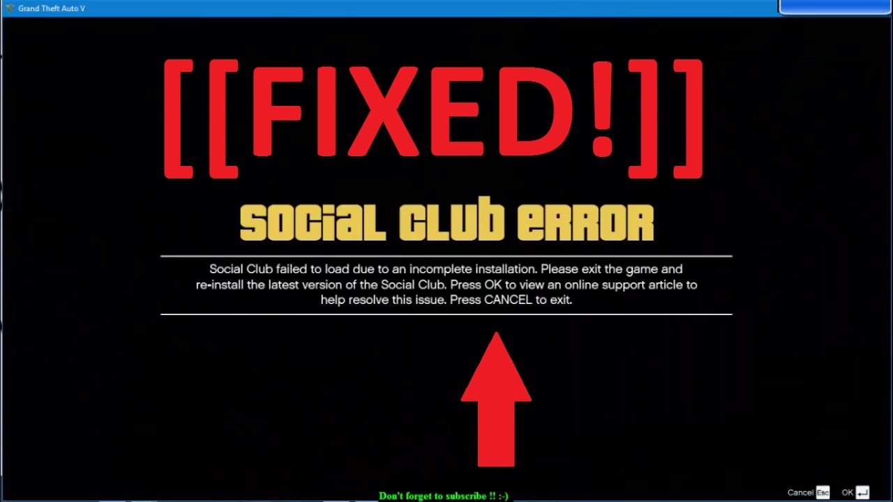 Crack gta v social club error