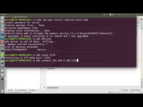 How To Enable Wireless Debugging With The ADB In Android Development In Ubuntu Linux
