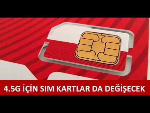 4.5G SIM Kart Turkcell Vodafone ve TürkTelekom