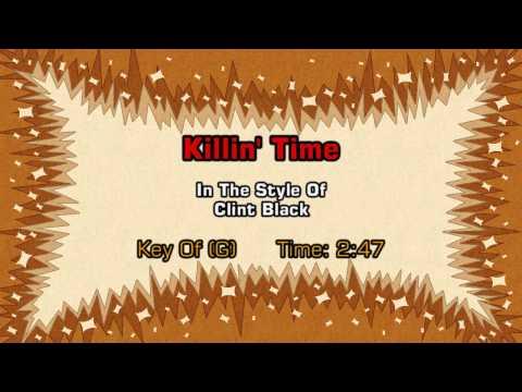 Clint Black - Killin' Time (Backing Track)