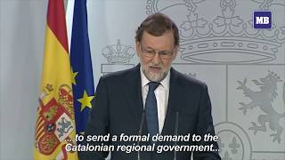 Spain PM asks Catalan leader to clarify position on independence