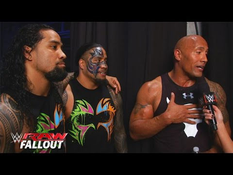 The Rock gets welcomed back to the WWE: Raw Fallout, January 25, 2016