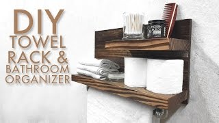 DIY Towel Rack & Bathroom Organizer | Modern Builds | EP. 51