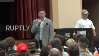 USA  Alt right's Richard Spencer met with protest at Auburn University