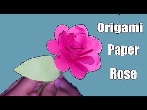 How To Make Flower With Paper | How To Make Rose | Origami Rose Flower||Paper Crafts