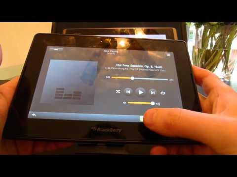 Playbook 2.0 review: Kindle and amazonmp3 running within Android player