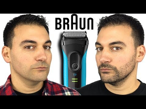Beard Shaving - Braun Series 3 Proskin 3040s Foil Shaver vs Remington F5 5800 Electric Shaver
