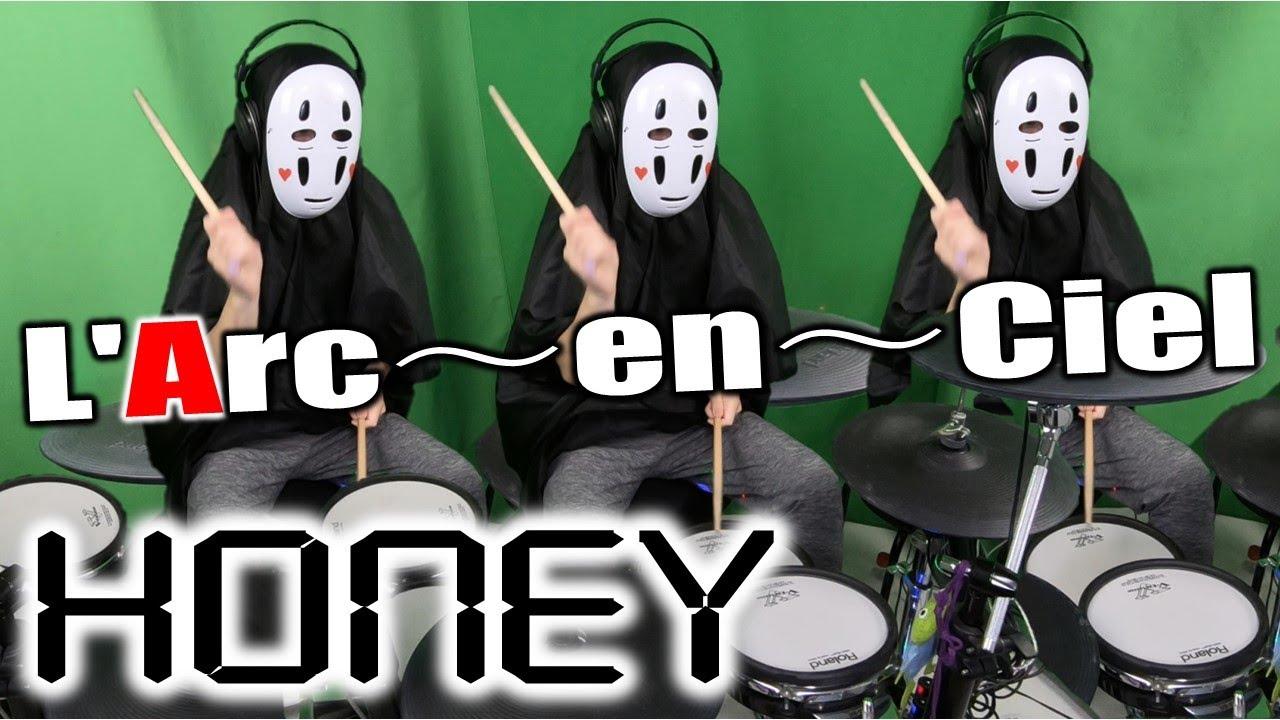 【🌈ラルクアンシエル/L'Arc~en~Ciel】「HONEY」をカオナシがドラム叩いてみたらこうなった Drums Cover!!