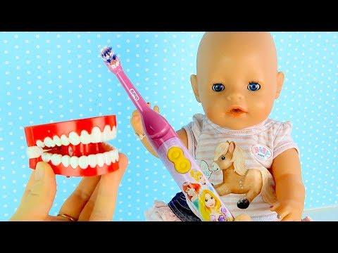 #Куклы Пупсики Электрическая Зубная Щётка Чистим Зубки Играем Мультик Для детей