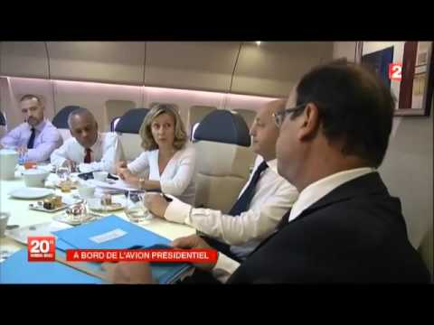 A bord de l 39 avion presidentiel youtube for Avion jetairfly interieur