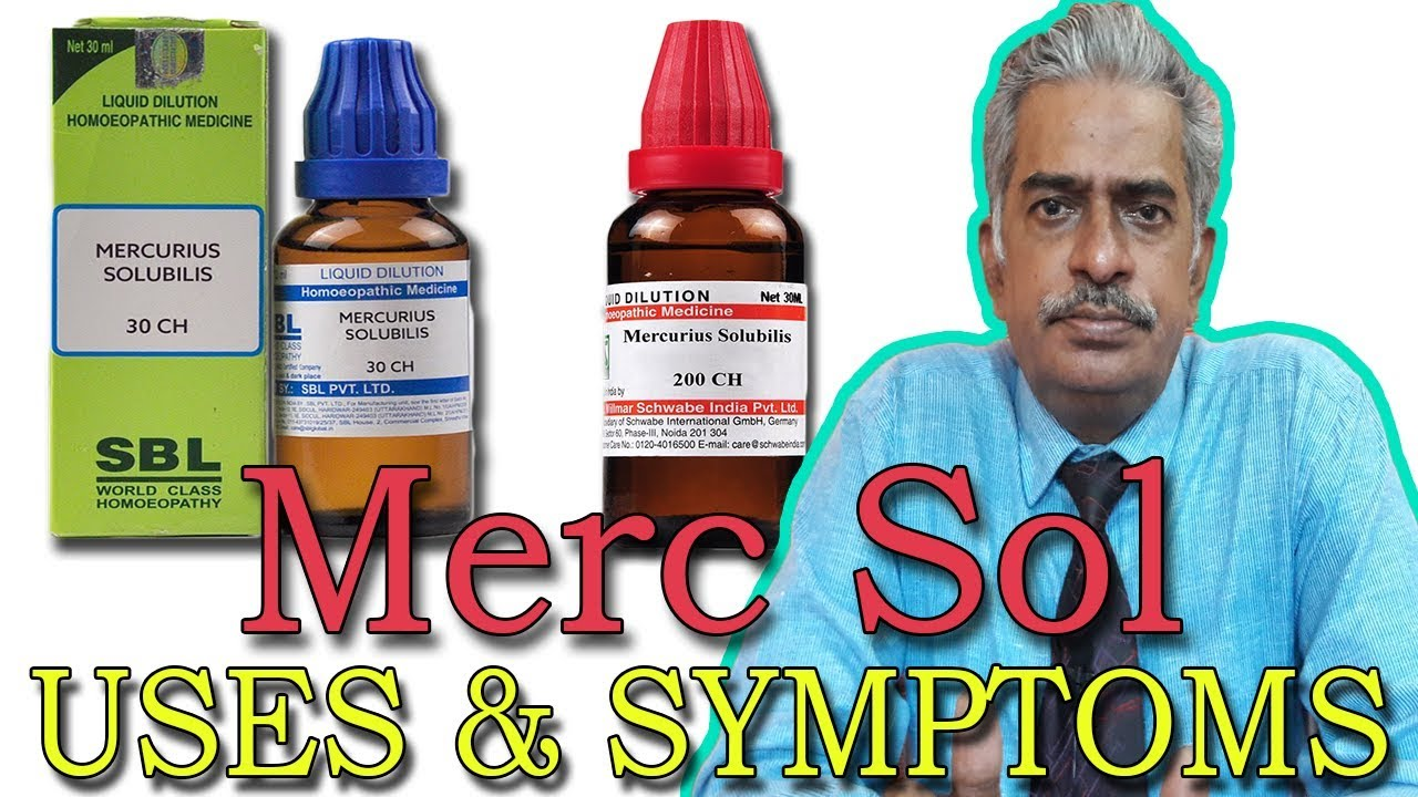 Merc Sol - Symptoms and Uses in Homeopathy by Dr P S  Tiwari