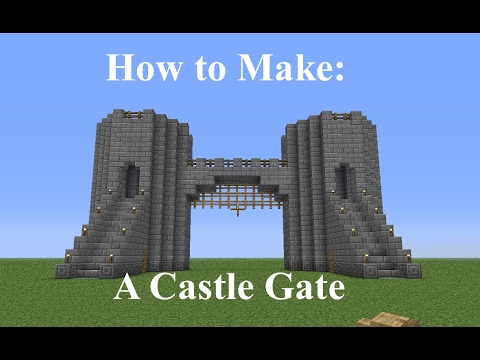 minecraft how to build a castle gate fast and easy. Black Bedroom Furniture Sets. Home Design Ideas
