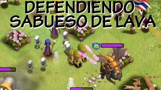 DEFENDIENDO CON SABUESO DE LAVA NIVEL 3 - Anikilo - A por todas con Clash of Clans - Español - CoC