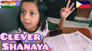 FILIPINO MARRIED TO INDIAN WOMAN. SHANAYA surprise Daddy how she answers her school test.