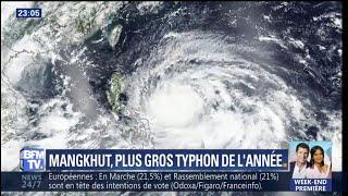 Mangkhut, le plus gros typhon de l'année arrive sur les Philippines