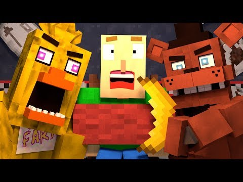 BALDI'S BASICS VS Five Nights at Freddy's (FNAF) - Minecraft Animation thumbnail