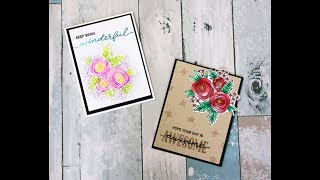 Catherine Pooler Welcome Home Release Blog Hop + Watercoloring with Ink!