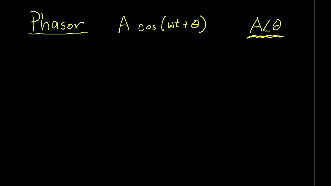 Introduction To Ac Steady State Analysis Part 1 Youtube Current Source For Circuit Problem Containing Sources