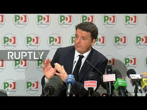 LIVE: Renzi holds press conference following general election