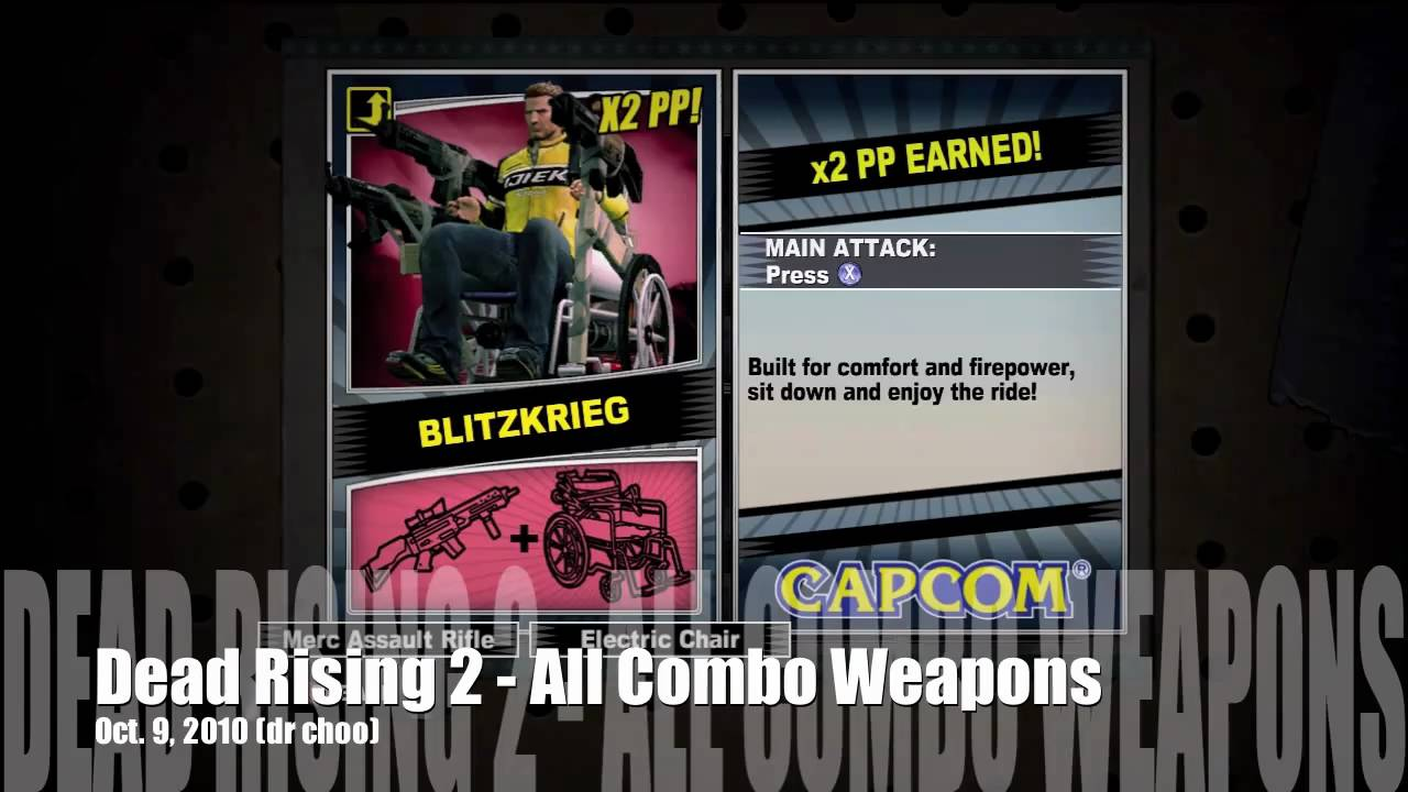 Dead Rising 2 All 50 Combo Weapons Dr Choo Youtube