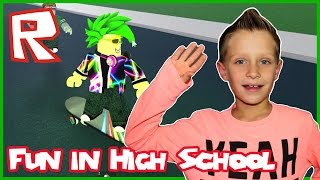 Having Fun in Roblox High School